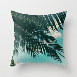 Tropical Palms #palm tree Throw Pillow