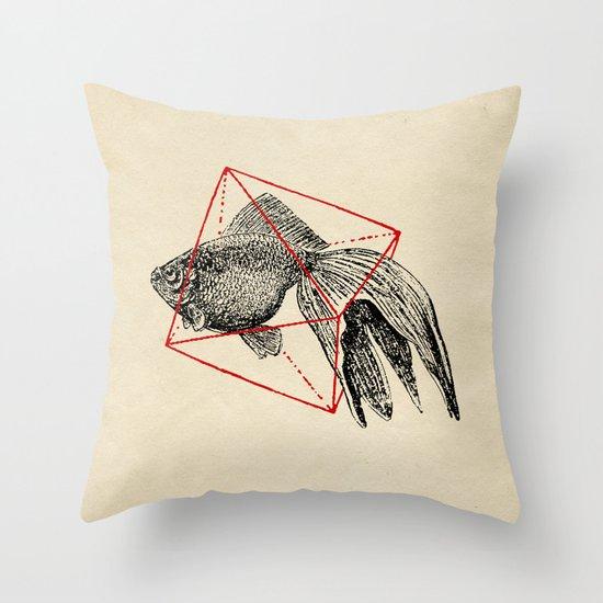 Fish In Geometrics III Throw Pillow