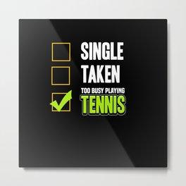 Sport Tennis Tennis Ball Tennis Court Sports Gift Metal Print