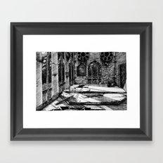 Moon Church Framed Art Print