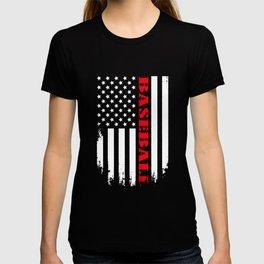 Patriotic Baseball Player - Flag T-shirt