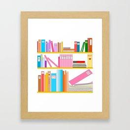 Favorite books Framed Art Print