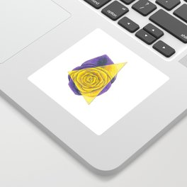 Purple and Yellow Rose with Triangle Sticker