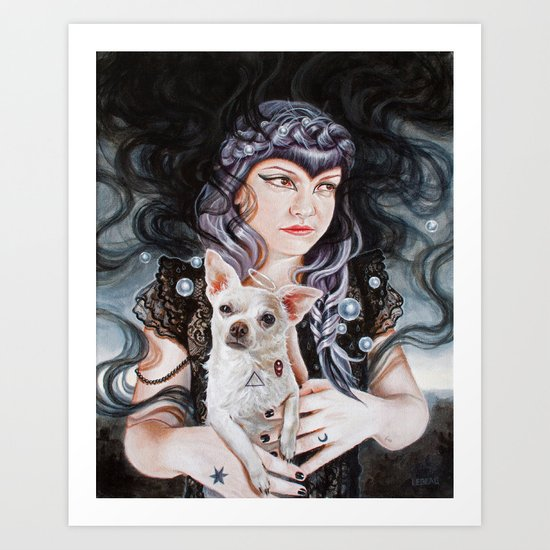She Brings the Night Art Print
