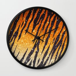 Tiger Shout Glitter Stripe Wall Clock