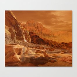 In the Foothills of Titan's Mountains Canvas Print