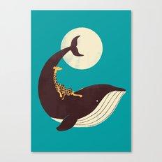 The Giraffe & the Whale Canvas Print