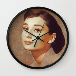 Audrey Hepburn, Hollywood Legend Wall Clock