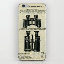 Vintage Page: Binoculars iPhone Skin