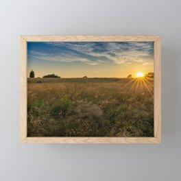 Sunset on the Heath Framed Mini Art Print
