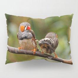 Shake that Booty, Zebra Finch! Pillow Sham