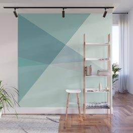 Green Geometric Artwork  Wall Mural