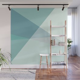 Green Geometric Artwork  Wall Mural