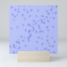 Light blue puzzle Mini Art Print
