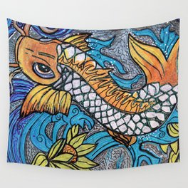 Glitter Fish Wall Tapestry