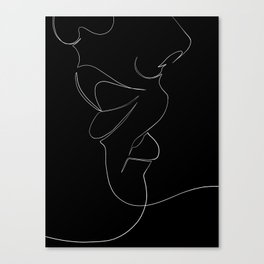 bisou Canvas Print
