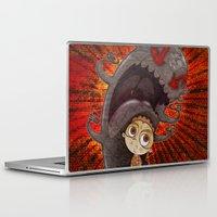 fear Laptop & iPad Skins featuring Fear by José Luis Guerrero