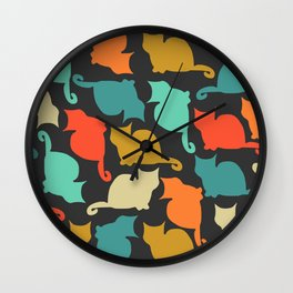 Cats and kittens Wall Clock