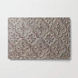 Silver Emboss Metal Print
