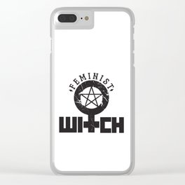 Feminist Witch Clear iPhone Case