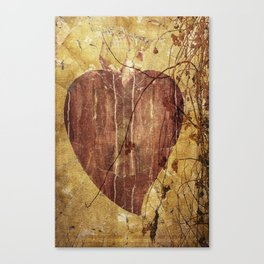My beautiful heart; a red heart, branch and berries Canvas Print