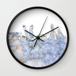 Abu Dhabi Skyline Wall Clock