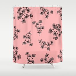 pink flower eaters Shower Curtain
