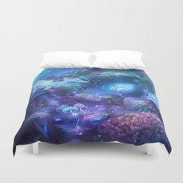 Water Dragon Kingdom Duvet Cover