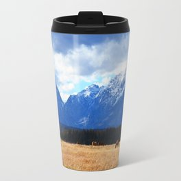 Grazing Grand Tetons Travel Mug