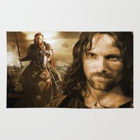 lord of the rings Area & Throw Rugs featuring lord of the rings,the hobbit by ira gora