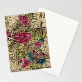 Vintage Map of Scotland (1808) Stationery Cards
