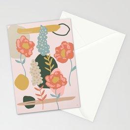 Retro Peony Stationery Cards