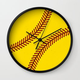 Fast Pitch Softball Wall Clock