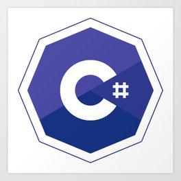 c# developers logo dot net Art Print