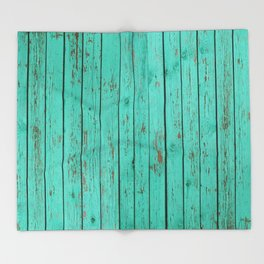 wood turquoise new art grid wod color fun pattern texture style 2018 2019 artist floor wall new Throw Blanket