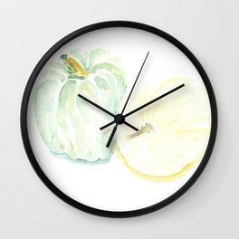 Watercolor Heirloom Pumpkins Wall Clock