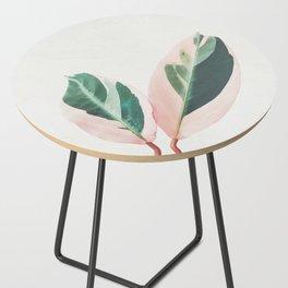 Pink Leaves I Side Table