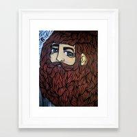 beard Framed Art Prints featuring beard by Deerabigale