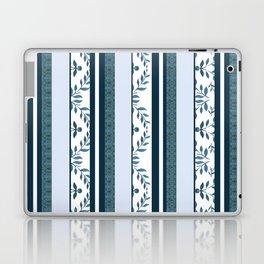 zakiaz navy & white french stripe Laptop & iPad Skin