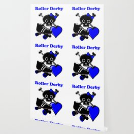 Roller Derby Heart (Blue) Wallpaper
