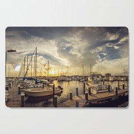 Summer Harbor Sunset Cutting Board