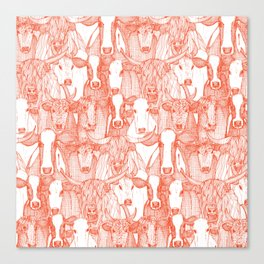 just cattle flame white Canvas Print