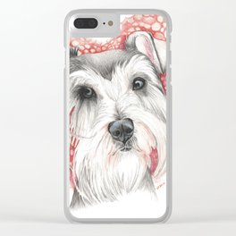 Sweet Schnauzer Clear iPhone Case