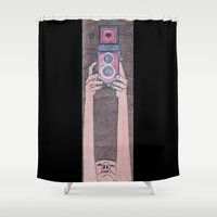 photographer Shower Curtains featuring Photographer by mojekris