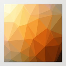 Shades Of Orange Triangle Abstract Canvas Print