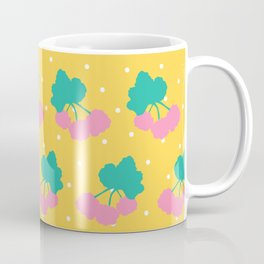 Swedish Cloudberries in Yellow + White Polka Dot Coffee Mug