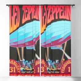 LedZeppelin live at the Filmore east Concert Poster Blackout Curtain