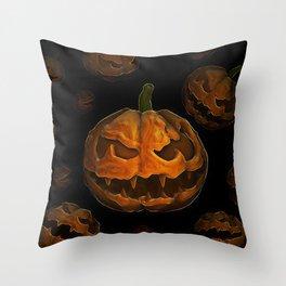 Pumpkin Hallowen Throw Pillow