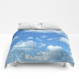 Blue sky and clouds Comforters