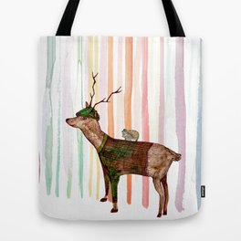 Rainbow forrest Tote Bag